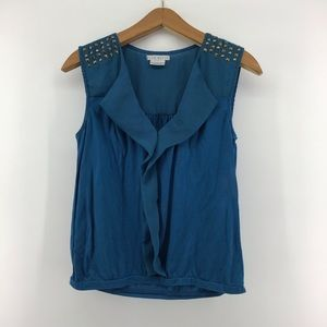 Fred David | Studded Sleeveless Blouse